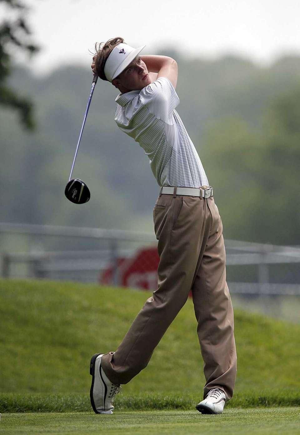 Farmingdale's Kyle Brey tees off on the fifteenth