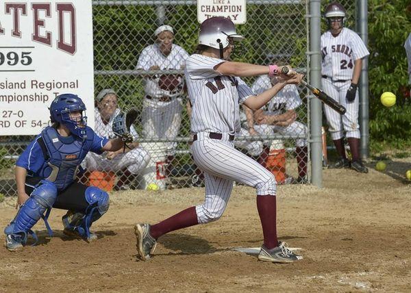 Bay Shore's Sarah Edwards drives in two runs