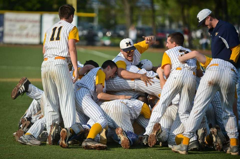 The Massapequa Chiefs celebrate a win at the