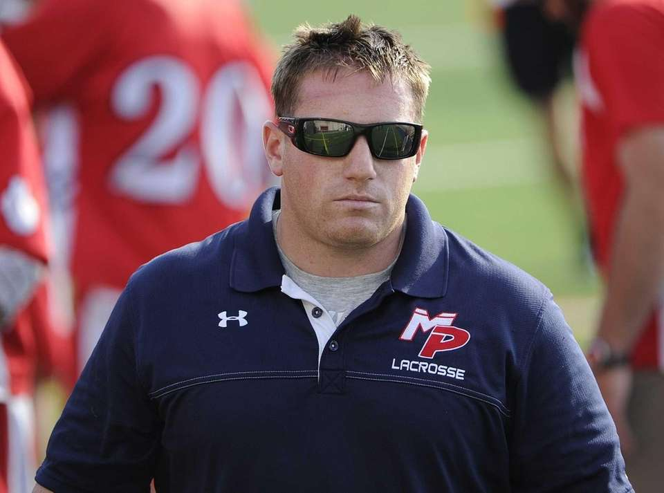 Miller Place head coach Keith Lizzi is seen
