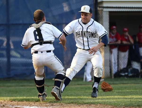 Chris Brewer and Sal Geraci of the Bayport-Blue