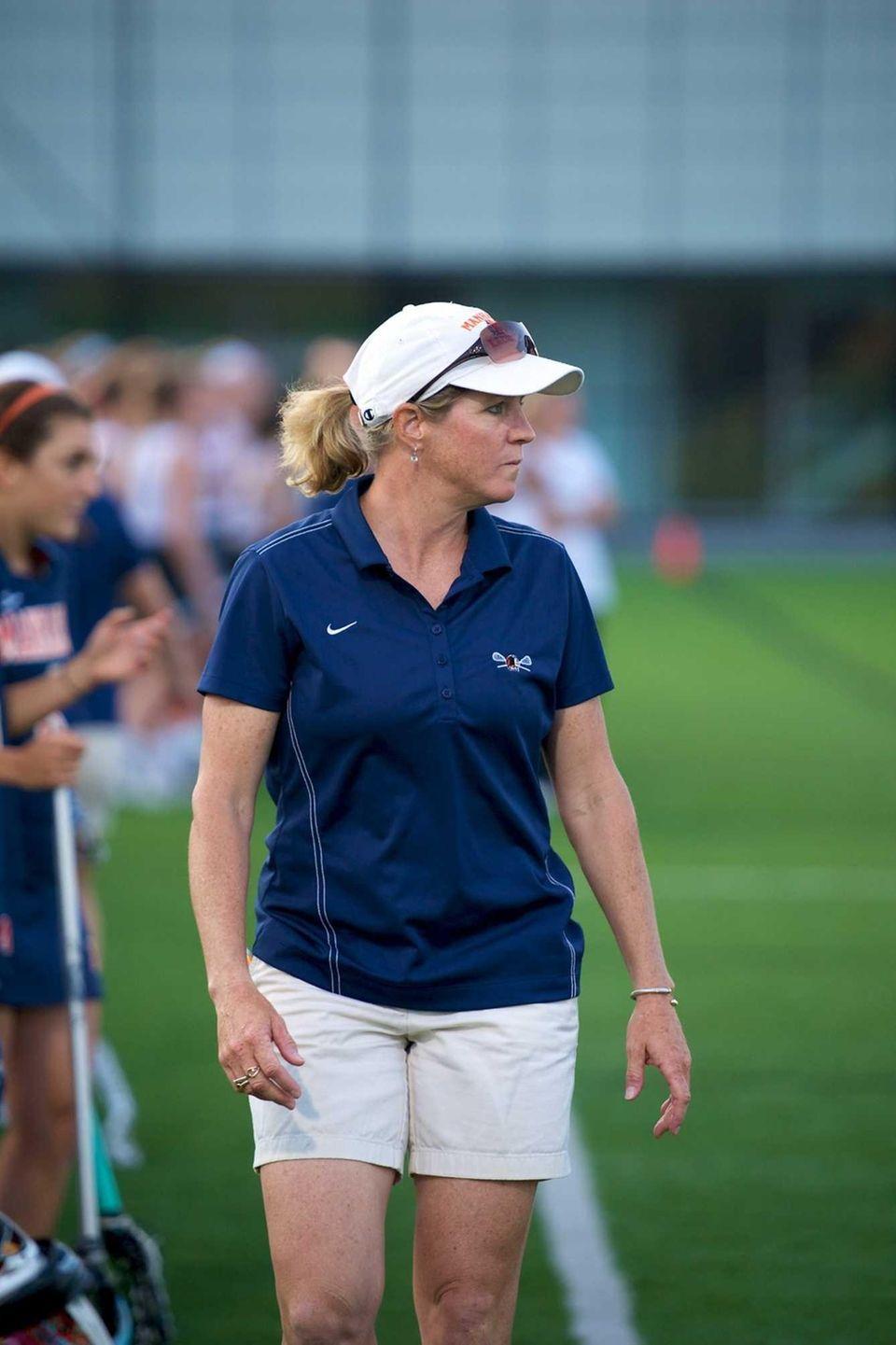 Manhasset coach Danielle Gallagher watches her team on