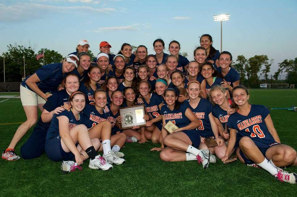 Manhasset poses for a picture with the county
