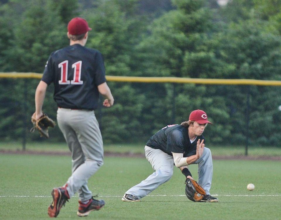 Clarke senior Matt Seelinger catches the ball during