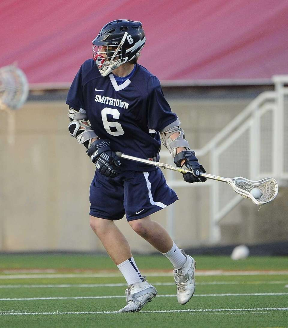 Smithtown West attacker Ryan Keenan sets up to