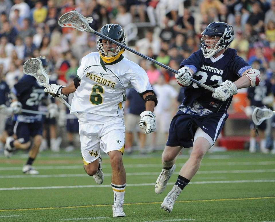 Ward Melville's Christian Mazzone is pressured by Smithtown