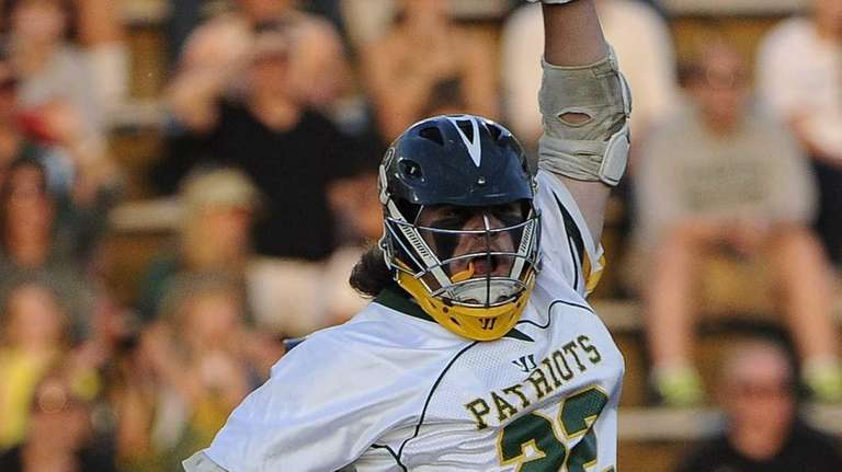 Ward Melville's Brendan Hegarty reacts after he scores