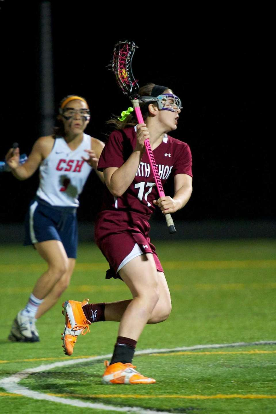 North Shore midfielder Carly Comitino scores a goal
