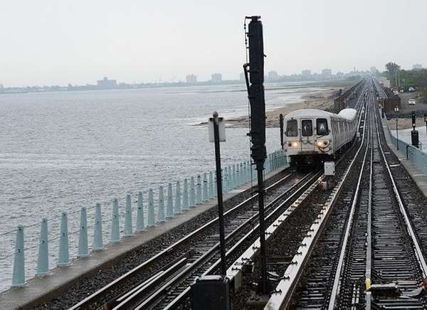 MTA officials rode a test train from Howard