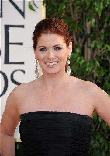 Debra Messing arrives at the 70th annual Golden