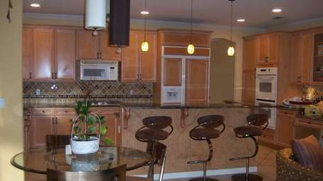 The kitchen in the home at 169 Sagamore
