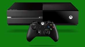 Microsoft's Xbox One video game console is shown