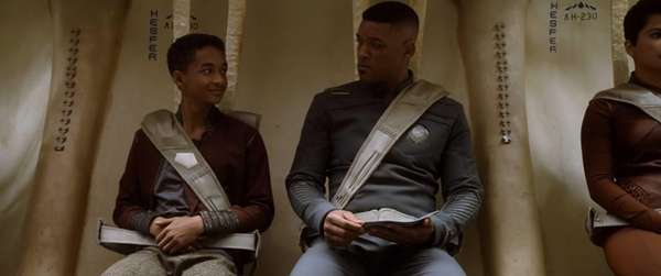 Jaden Smith, left, and WIll Smith star in