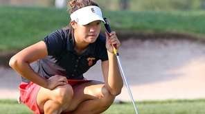 Annie Park surveys the green during a U.S.