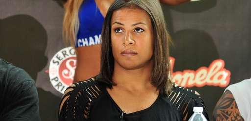 Fallon Fox, a transgender MMA fighter, at a