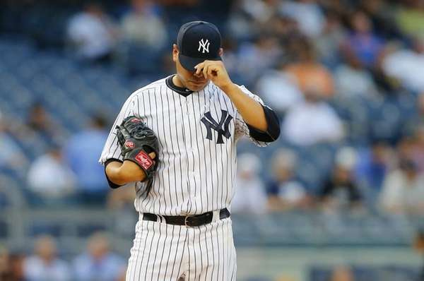 Vidal Nuno stands on the mound in the