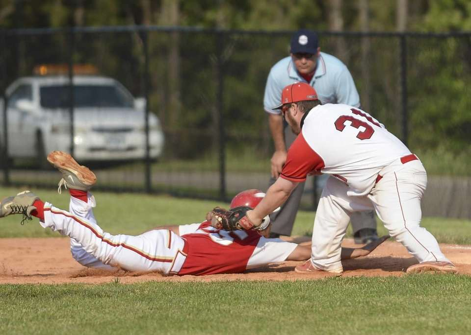 Connetquot's Joe Silverstein puts the tag on Hills