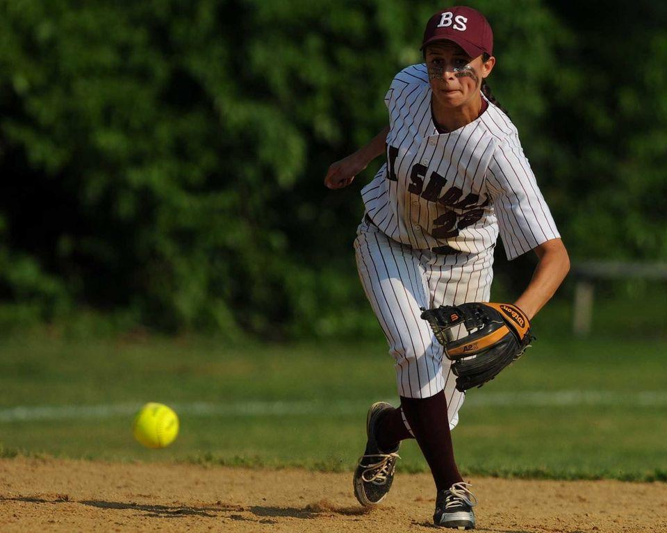 Bay Shore shortstop Giana Panariello ranges to her