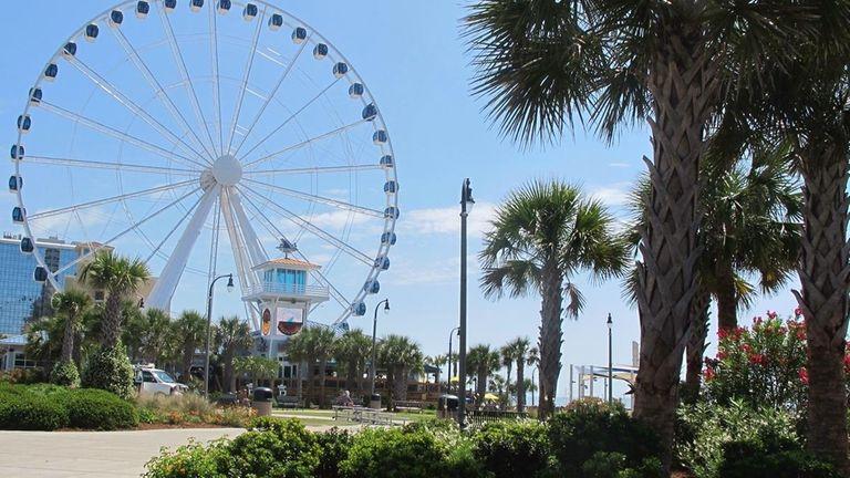 Plyler Park features the SkyWheel, the tallest Ferris