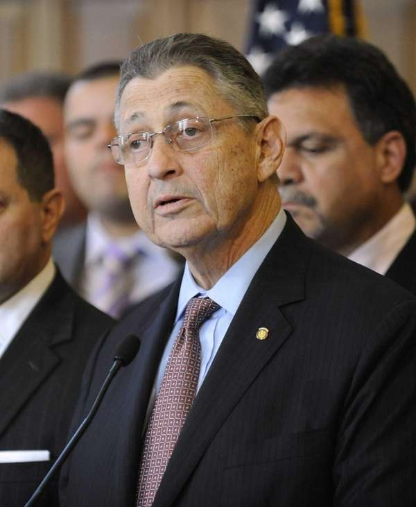 Assembly Speaker Sheldon Silver (D-Manhattan) during a news