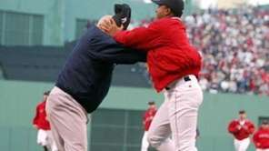 Pedro Martinez tussles with Yankees bench coach Don