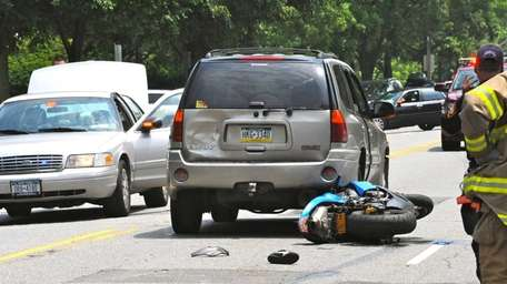An accident involving a motorcycle driver and the