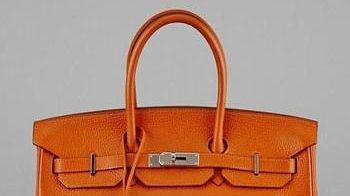 This vintage Hermès Potiron Clemence leather Birkin bag,