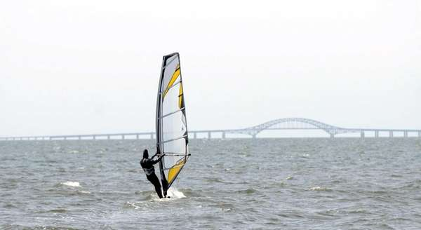 Windsurfer Curt Veith, of Babylon, enjoys the outdoors