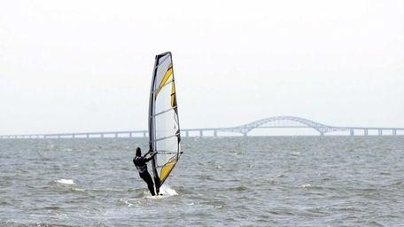 Windsurfer Curt Veith, of Babylon, enjoys the outdoors