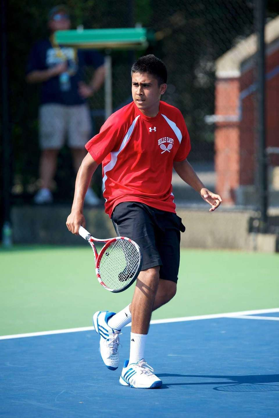 Zain Ali of Half Hollow Hills East reacts