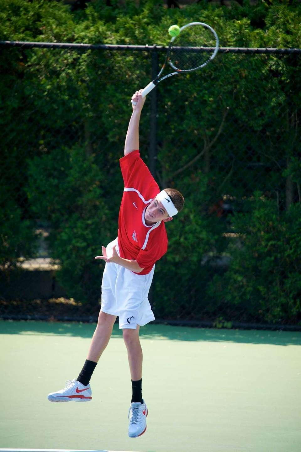 Conor Mullins of Cold Spring Harbor hits a