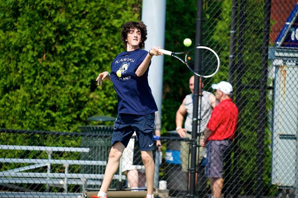 Yuval Soloman of Plainview Old Bethpage hits a