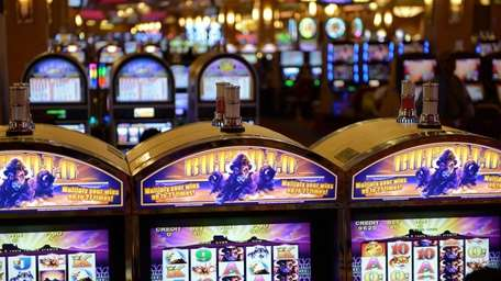 File photo of video lottery terminals at the