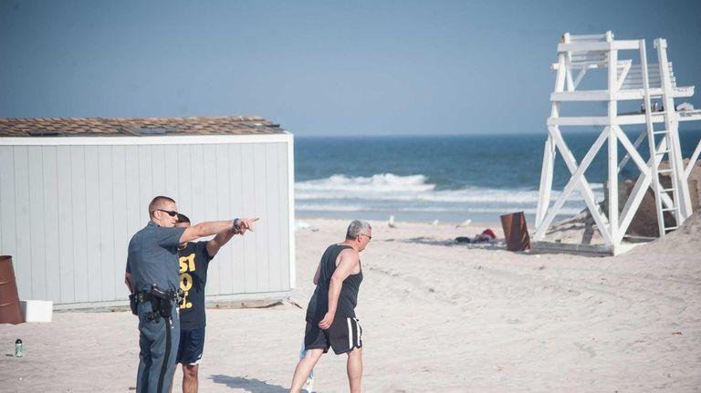 According to an eyewitness, a beachgoer was air