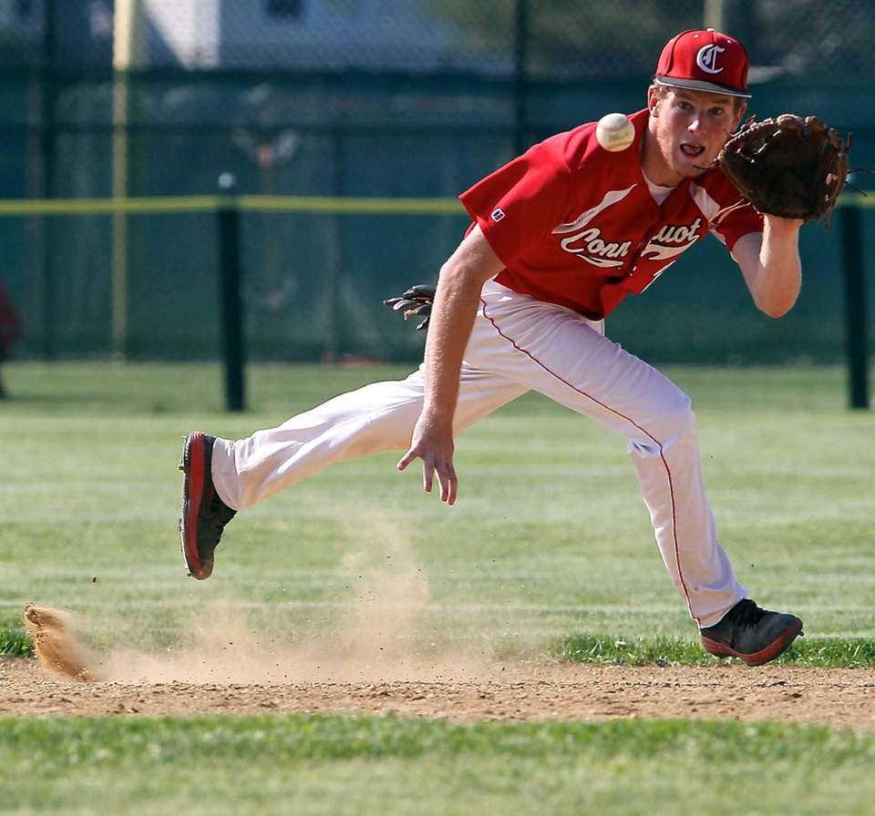 Connetquot SS Casey Baker grabs the ground ball