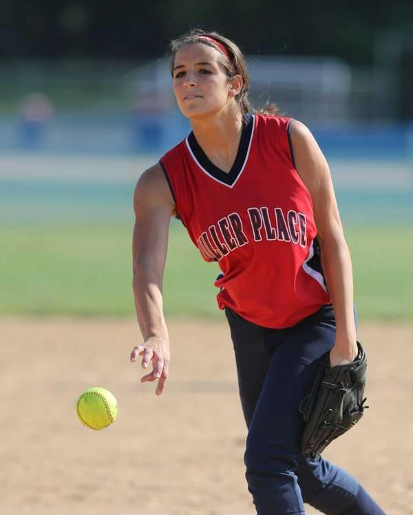 Miller Place Pitcher Jacqueline Gallagher delivers the ball