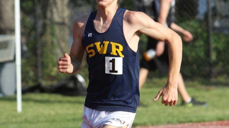 Ryan Udvadia of Shoreham-Wading River takes the win