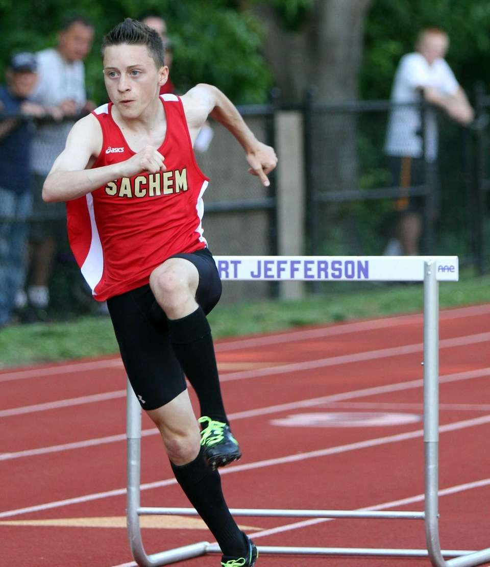 Trevor Guerrera of Sachem East takes the win