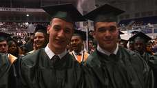 Matthew Austin, 18, of Hicksville, left, and his