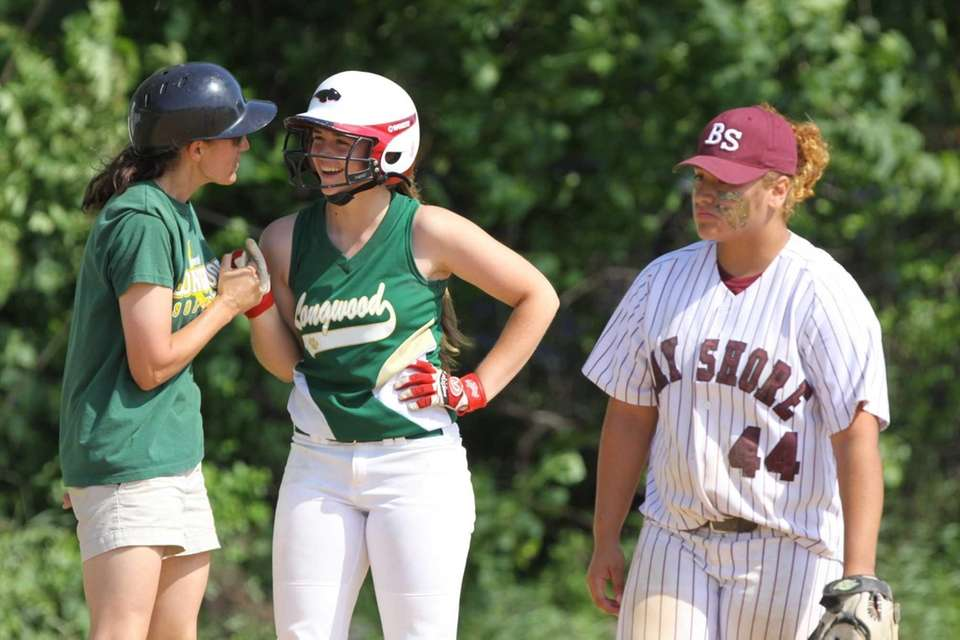 Longwood's Alexis Kopel, center, is all smiles after
