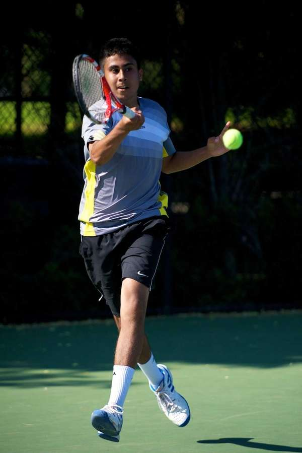 Zain Ali of Half Hollow Hills East hits