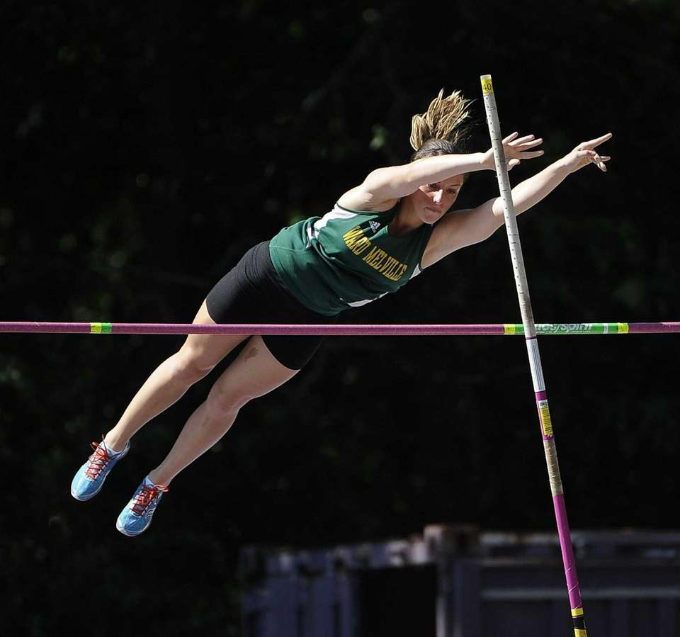 Ward Melville's Crystal Wyllie competes in the pole