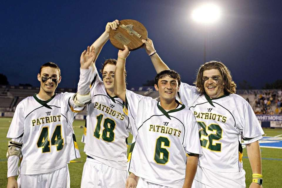 From left, Ward Melville captains Michael Zerbo, Jack