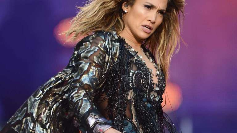 Singer Jennifer Lopez performs at the