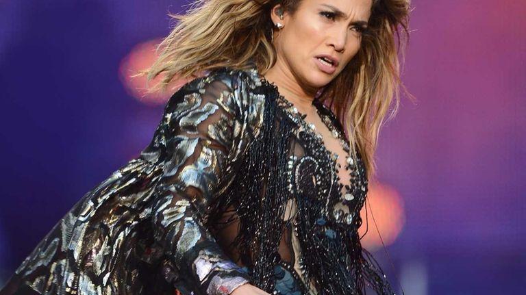Singer Jennifer Lopez performs at the