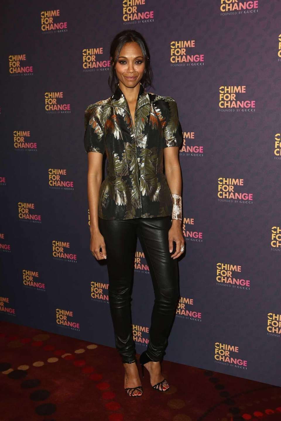 Actress Zoe Saldana at the