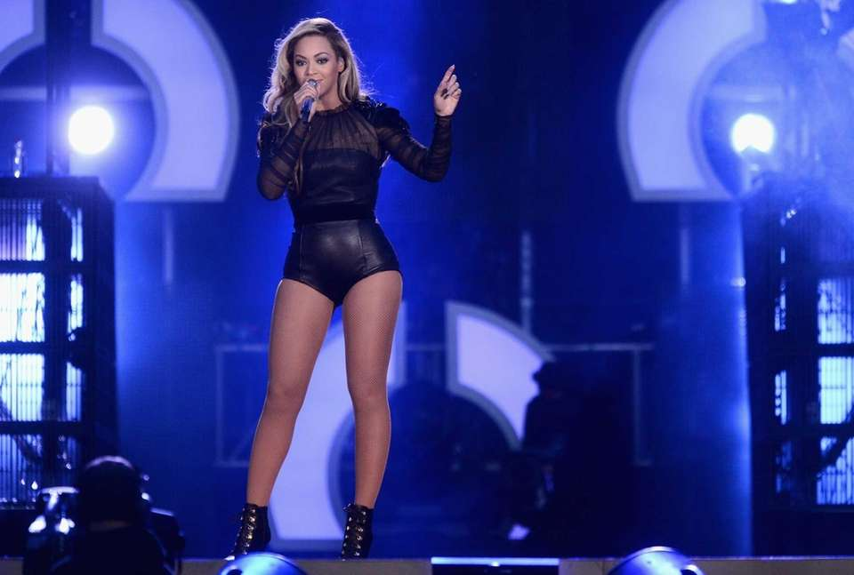 Beyonce performs on stage at the