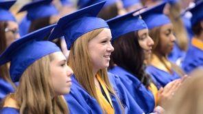 Maggie Corrigan, 18, was among the 515 graduates