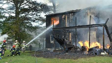 A fire at 302 Lake Point Dr. in