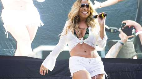 Mariah Carey performs at the Hot 97 Summer